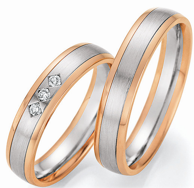 Collection Ruesch Eheringe/Trauringe Honeymoon Solid Bicolor 66/60150/045-66/60160/045